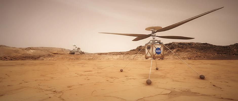 Erster Mars Hubschrauber Fliegt Mit Maxon Punkt4